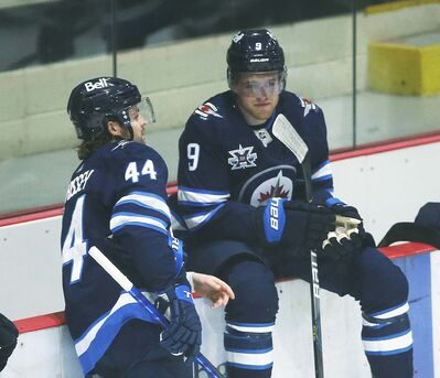 """Winnipeg Jets Josh Morrissey and Andrew Copp, neither of whom have been vaccinated yet, think players who've already faced the needle should be afforded more freedom by league. THE CANADIAN PRESS FILES/John Woods</p> <p>""""> </a><figcaption readability="""