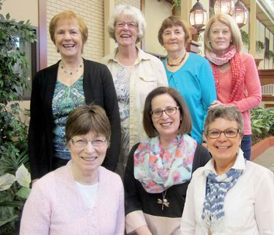 A group of former École St. Avila teachers have been meeting every Friday for breakfast for the last 25 years. The school celebrates its 50th anniversary this year, with a number of activities scheduled on June 5. Back row (from left): Jeanne Bourgouin, Maureen Monson, Margaret Crawford, and Sandy Briscoe. Front row: Clara Fjeldsted, Shirley Adam, and Esther Roy.