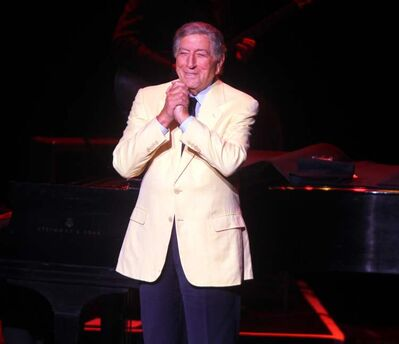Tony Bennett croons his way into the crowd's heart at the Centennial Concert Hall on Wednesday.