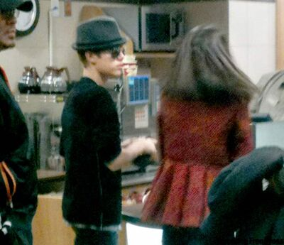 Justin Bieber and Selena Gomez were spotted at a Tim Hortons outlet in Winnipeg Square.