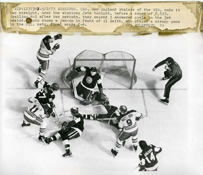 New England Whalers of the WHA, made it two straight, over the Winnipeg Jets before a crowd of 8, 655.