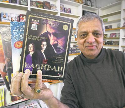 Joe Gupta has about 100,000 Indian films for sale at his India Spice House stores.