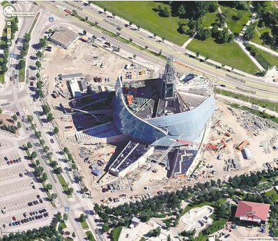 Google maps image A 3D view of the Canadian Museum for Human Rights on Google Maps' new app.