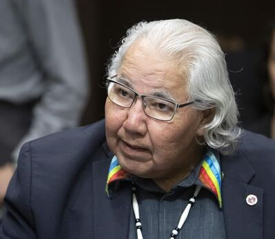Murray Sinclair appears before the Senate Committee on Aboriginal Peoples in Ottawa on Tuesday May 28, 2019. Retired senator Sinclair says an independent investigation is needed to examine all burial sites near former residential schools.THE CANADIAN PRESS/Fred Chartrand