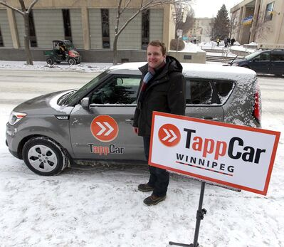 Edmonton-based TappCar announced it will be the first ride-hailing service operating in the city, with their drivers ready to start collecting fares Friday. (Boris Minkevich / Winnipeg Free Press files)</p>