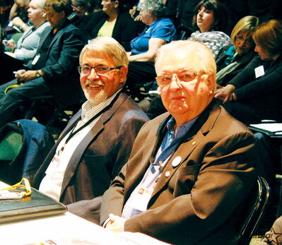 St. Francois Xavier CAO Robert Poirier (left) and reeve Roger Poitras attended the AMM's annual convention in Winnipeg.