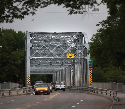 The Redwood Bridge, which connects Elmwood to the North End over the Red River, has been renamed in honour of former Mynarski Coun. Harry Lazarenko.