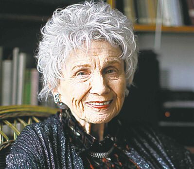 Canadian author Alice Munro.