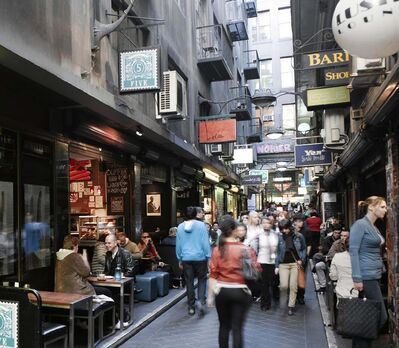 tourism australia</p><p>Opening Melbourne's alleys added a new dimension to urban living in the Australian city.</p>