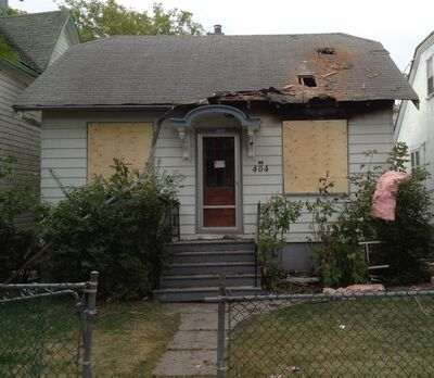 Fire damaged a house in the 400 block of Manitoba Ave, Monday night.