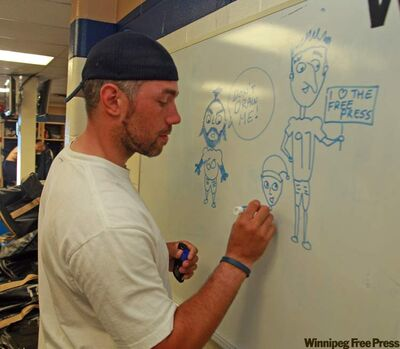 Blue Bomber long-snapper Chris Cvetkovic is also a bit of an artist.