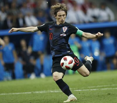 (AP Photo/Pavel Golovkin)</p><p>Croatia&#39;s Luka Modric during the quarterfinal match between Russia and Croatia at the 2018 soccer World Cup in the Fisht Stadium, in Sochi, Russia, Saturday.</p>