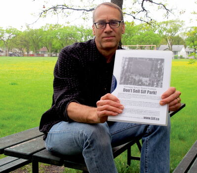 Brian Hydesmith has lived across from Sir John Franklin Park since 1996. The last thing he wants is a development in his favourite green space.