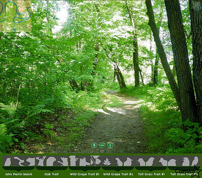 One of the many walking paths to be explored in the Beaudry Park virtual hiking tour.