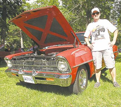 Irv Braun with his 1967 Chevy II.