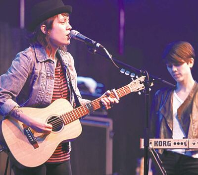 Tegan and Sara were among the top performers at Folk Fest last year.