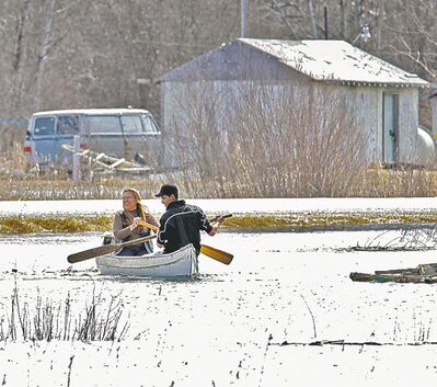 MIKE DEAL / WINNIPEG FREE PRESS ARCHIVESFloodwaters submerged much of Lake St. Martin First Nation in spring 2011.