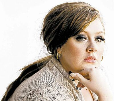 "FULL CLOSE CUT CLOSECUT - British singer-songwriter Adele poses for a portrait in West Hollywood, Calif., Monday, Feb. 2, 2009.   Adelewill be in a fashion spread shot for ""Vogue"" by Annie Liebovitz.(AP Photo/Chris Pizzello)."