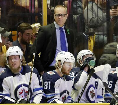 (AP Photo/Mark Humphrey)</p><p>Winnipeg Jets head coach Paul Maurice watches the third period in Game 1 Friday.</p>