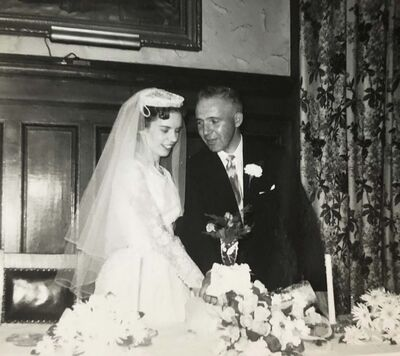 Supplied</p><p>Fran and David got married in 1957.</p>