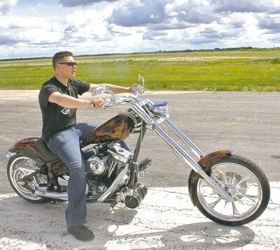 Jared Youzwa, pictured here in a photo shoot circa 2008, died last Friday in a motorcycle accident.