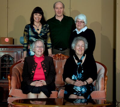 The cast of The Cemetary Club, put on by Immanuel United Church from April 25 to 27, is shown.