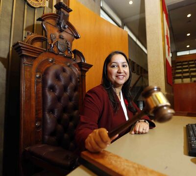 Devi Sharma, Winnipeg city council's first female speaker, is running for a second term in Old Kildonan.