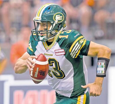 Darryl Dyck / the canadian press archivesEskimos quarterback Mike Reilly is great in the fourth quarter. His play earlier in games leaves something to be desired.