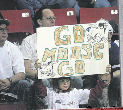 Young Moose fan at a white-out night way back when.