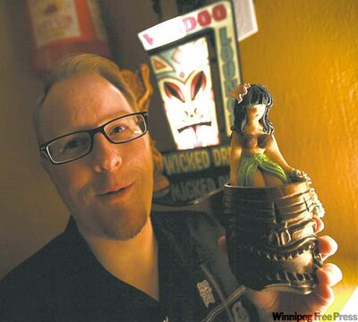 Steve Ward has a hula heck of a lot of tiki mugs.