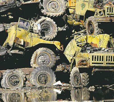 Amanda McCoy/Biloxi Sun HeraldThe U.S. military has destroyed more than 80 million kilograms of vehicles and other military equipment as it rushes to wind down its role in the Afghanistan.