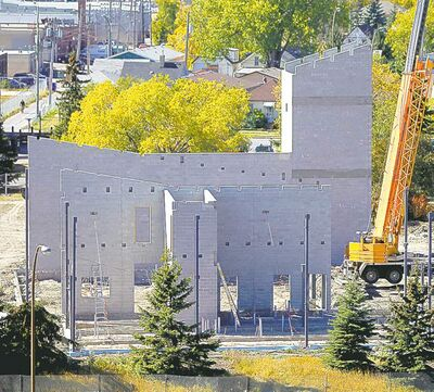 BORIS MINKEVICH / WINNIPEG FREE PRESSThe Station No. 11 on Portage Avenue and Route 90 under construction Wednesday.