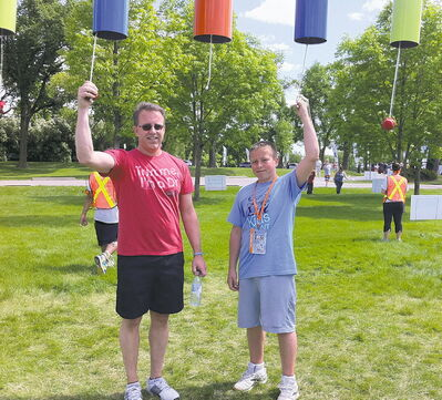 Mark and Noah Evans have been doing the Challenge together for three years.