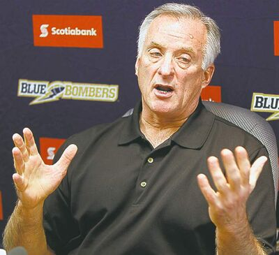 Joe Mack, Vice-President of Football Operations and General Manager for the Winnipeg Blue Bombers.