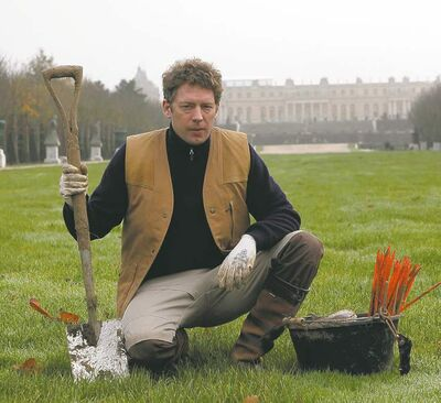 Thibault Camus / The Associated PressJerome Dormion is the latest in an unbroken 330-year line of mole-killers in the royal palace and gardens.
