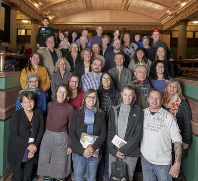Representatives from 20 charitable organizations that recently received $1.3 million from The Winnipeg Foundation's reconciliation grants. (Supplied)</p></p>