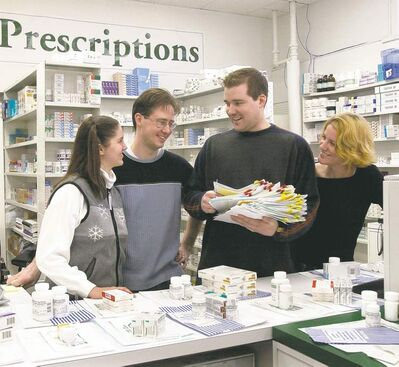 Internet pharmacy pioneers Chantelle and Mark Rzepka (left) and Andrew and Catherine Strempler in 2002. Thirteen years later, Andrew Strempler is in the midst of a four-year sentence in a U.S. prison for conspiracy to commit mail fraud.