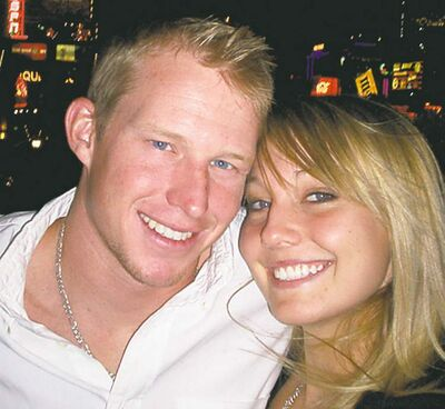 This Sept. 2008 photo provided by Kelly Carl Hildebrandt shows Kelly Katrina Hildebrandt, 20, right, and Kelly Carl Hildebrandt, 24, in Las Vegas, Nev. In October 2009, Kelly Hildebrandt will vow to share her life with a man who already shares her name, after she was curious and bored one night last year, so she plugged her name into the popular social networking Web site Facebook just to see if anyone shared it and found him. (AP Photo/Kelly Carl Hildebrandt) ** NO SALES **