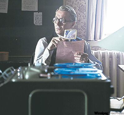 "Gary Oldman in ""Tinker, Tailor, Soldier, Spy."""