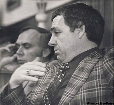 Winnipeg Jets coach Tom McVie, pictured in 1978.