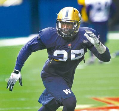 Blue Bombers  linebacker Wendell Brown has impressed the coaching staff. It seems he has a realistic chance of making the team.