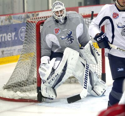 BORIS MINKEVICH / WINNIPEG FREE PRESS FILES</p><p>Goalie Michael Hutchinson has been called up from the Manitoba Moosed to backup Winnipeg Jets starting goaltender Connor Hellebuyck tonight when they face the Chicago Blackhawks.</p>