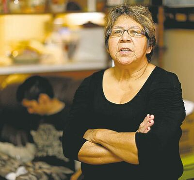 TREVOR HAGAN / WINNIPEG FREE PRESS 'A lot of people are having a problem with the cuts...,' says Muriel Woodford.