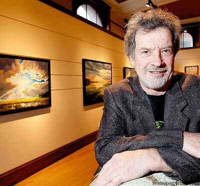 Five pieces of Watkinson's art are on exhibit at Mayberry Fine Art in the Exchange until Dec. 24.