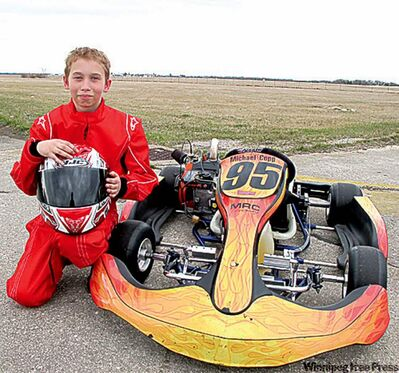 Michael Copp hopes to race NASCAR some day, but for now he's happy buzzing around the track in his powerful go-kart.