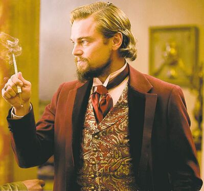FULL CLOSECUT CLOSE CUT (original file) (L-R) JAMIE FOXX and LEONARDO DiCAPRIO star in DJANGO UNCHAINED