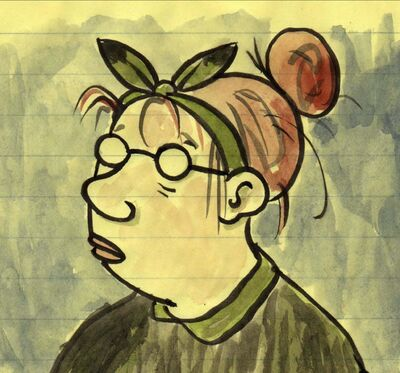 Author Lynda Barry&rsquo;s self-portrait.</p>