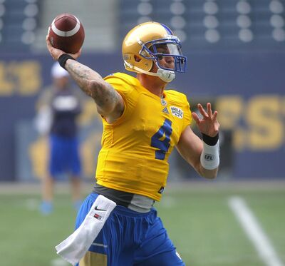 BORIS MINKEVICH / WINNIPEG FREE PRESS FILES</p><p>Quarterback Austin Apodaca was among the team&#39;s cuts Monday.</p>