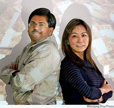 calgary heraldRaj Narayanaswamy (left), president of Calgary firm Replicon, and marketing manager Jessica Lee. There are 18 languages spoken in Replicon�s diverse workplace.