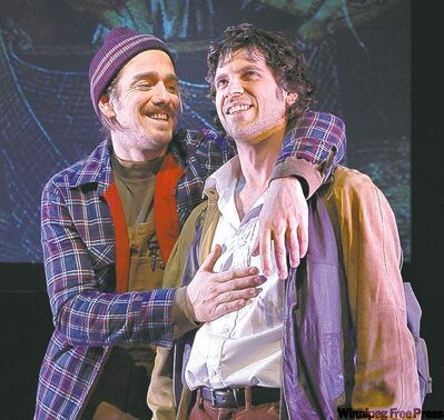 Gabriel Gosselin, left, and Christian Beaudry as James Coutu.